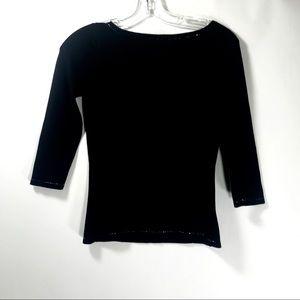 Bloomingdales now petites black sweater